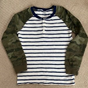 4/$20 Boys Carters striped raglan top size 8